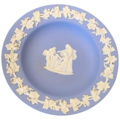 Midcentury Wedgewood Jasperware Cream on Blue