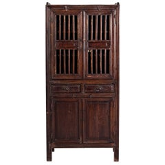 Lattice Door Chinese Cabinet