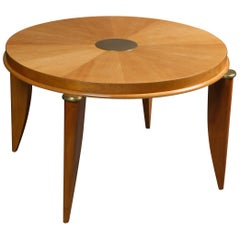 Ash Radial Veneer Art Deco Coffee Table by Maurice Jallot