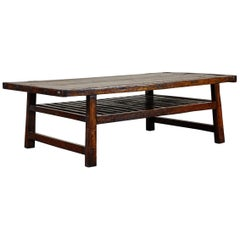 Chinese Coffee Table with Slatted Shelf