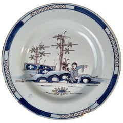 Delft Plate in the Chinese Style, 18th Century