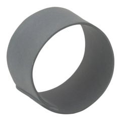 Contemporary Decorative Object, Handmade, Matte Black Porcelain Ring, in Stock