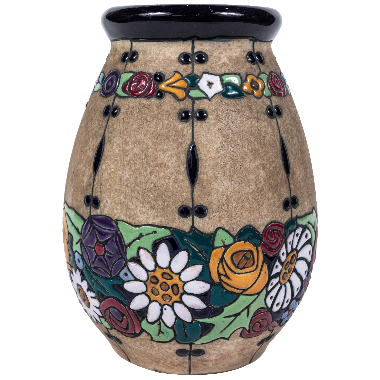 Early 20th Century Amphora Campina Round Vase