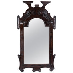 C. 1900 Antique Carved Wood Mirror