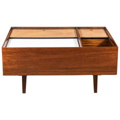 Milo Baughman Coffee Table in Exotic Mindoro Wood for Drexel