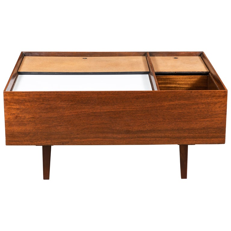 Exotic Glass Coffee Tables: Milo Baughman Coffee Table In Exotic Mindoro Wood For