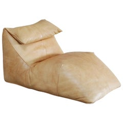 B&B Italia Le Bambole Chaise Lounge cognac Neck Leather by Mario Bellini