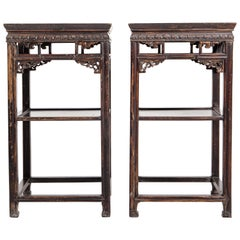 Pair of Qing Dynasty Chinese Side Tables