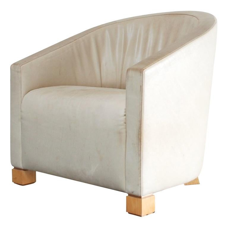 De Sede Leather Lounge Chair Armchair Creme Paolo Piva
