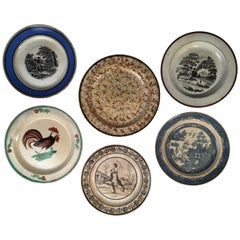 Collection of 6 Misc. French Plates, 19th Century