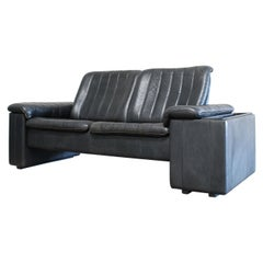 De Sede Anthracite Leather Sofa with Tray Fold