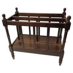 Large Magazine or Newspaper Rack with Divider