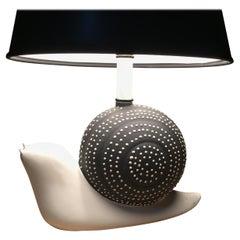Midcentury Ceramic Snail Lamp