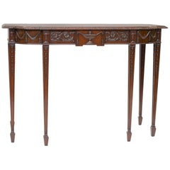 English Mahogany Console