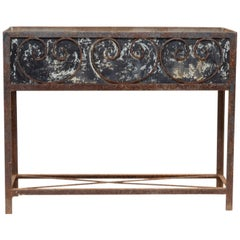 Iron Planter with Scroll Work