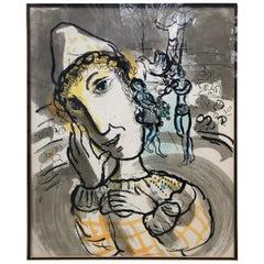 Marc Chagall Cirque au Clown Jaune, 1967