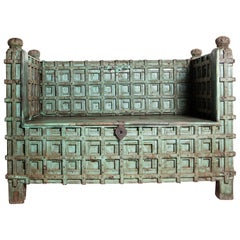 Indian Strongbox Converted to Bench