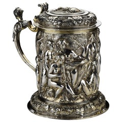 Robert Garrard I of London English Sterling Silver Tankard 78 Troy Oz circa 1812