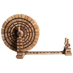 Indian Wooden Spinning Wheel
