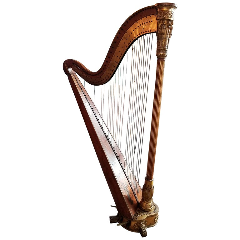 Mid 19th Century T. Dodd & Sons London Harp For Sale