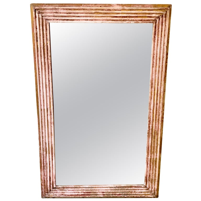 18th Century French Mercury Glass Mirror with Original Gilding For Sale