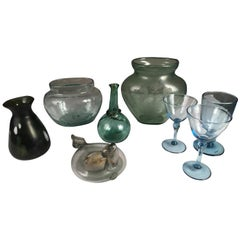 Collection of 8 Antique Glass Items
