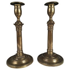 Pair of French Empire Period Candlesticks