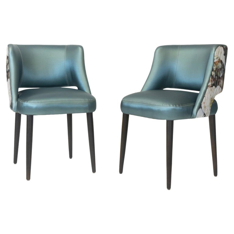 Modern Dining Room Chair with Relaxed Pitch For Sale