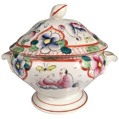 French Faience Soup Tureen, 19th Century