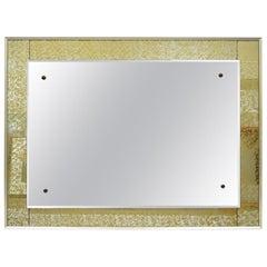 Modernist Mirror Verre Eglomise Gold Frame Josef Frank Attributed Made in Sweden