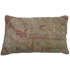 Turkish Oushak Bolster Rug Pillow