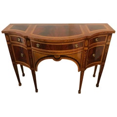 Superb Ornately Inlaid Mixed Wood Console Sideboard by Colombo Mobili