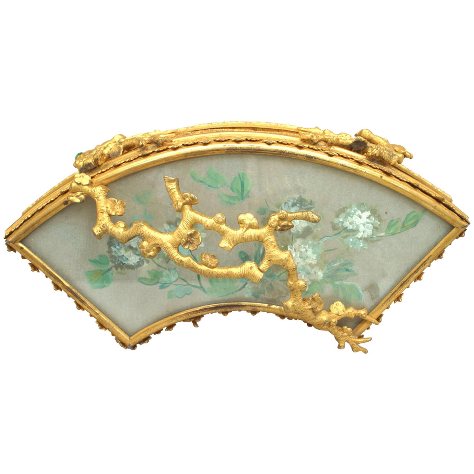 French Victorian Bronze Dore Fan Box