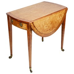 Georgian Period Satinwood Pembroke Table, 18th Century
