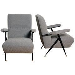 Pair of 1950s Italian Lounge Chairs