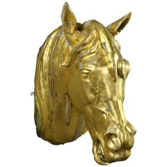 French Gilded Zinc Horse Head
