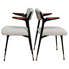 Pair of Fully Restored 1950s Gazelle Armchairs by Shelby Williams