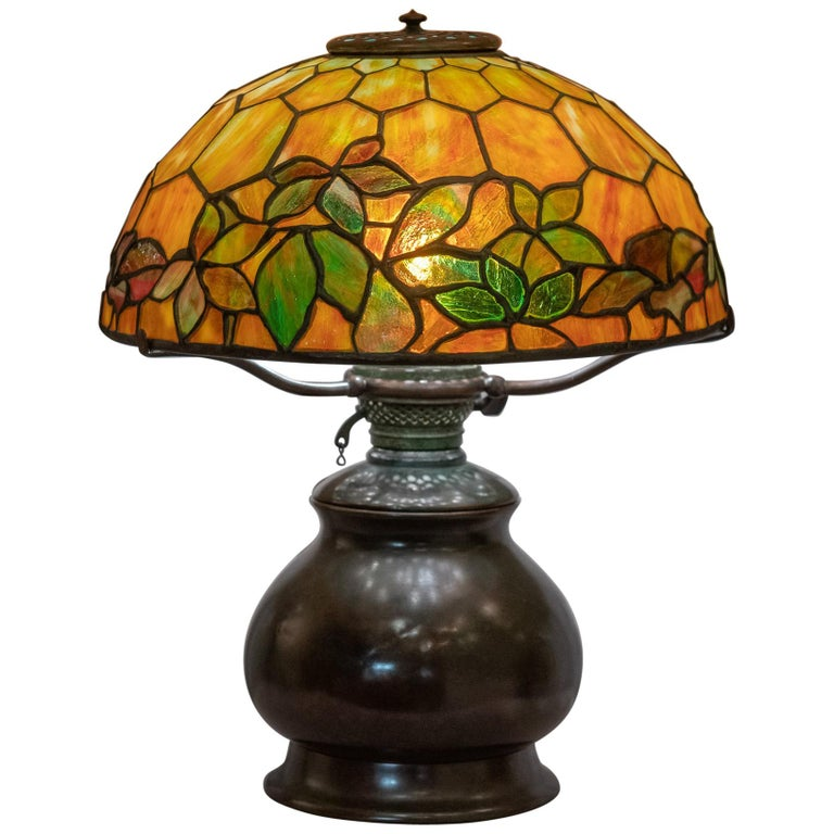 Tiffany Studios Woodbine Table Lamp For Sale