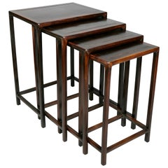 Nest of Four Chinese Hardwood Tables