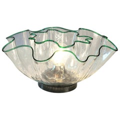 Adalberto Lago, Vistosi, Seaform Galea Ceiling Flush and Table Lamp 1968, Murano