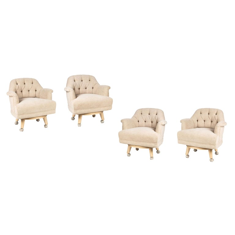 Set of 4-Arm Chairs by Monteverdi-Young For Sale