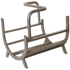 Art Deco Machine Age Modernist Magazine Rack or Log Holder