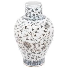 Monumental Chinese Peony Jar