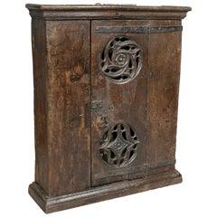 English Gothic Oak Hanging Cabinet