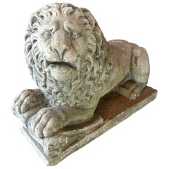 19th Century French Sculpted Limestone Lions