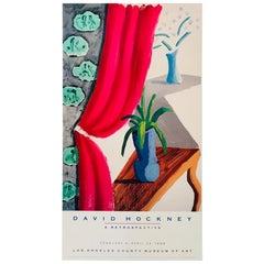 Original Vintage Art Poster 'Still Life with Magenta Curtain' David Hockney 1988
