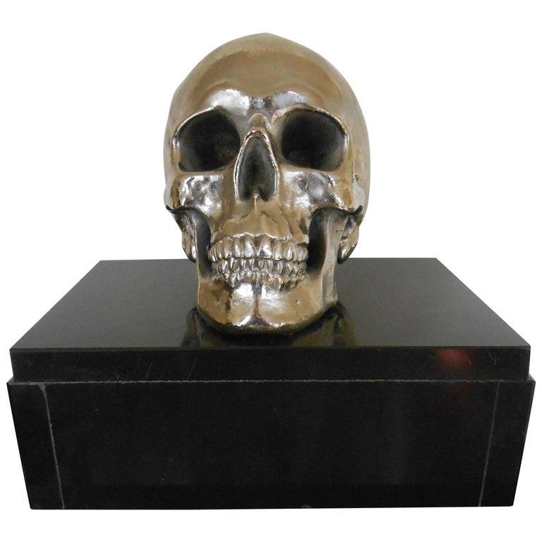 Nickel-Plated Resin Skull