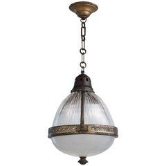 Brass Holophane Lantern, France, circa 1930