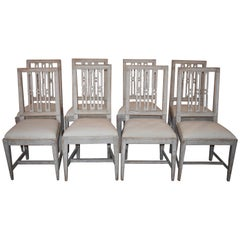 8 Swedish Dining Chairs