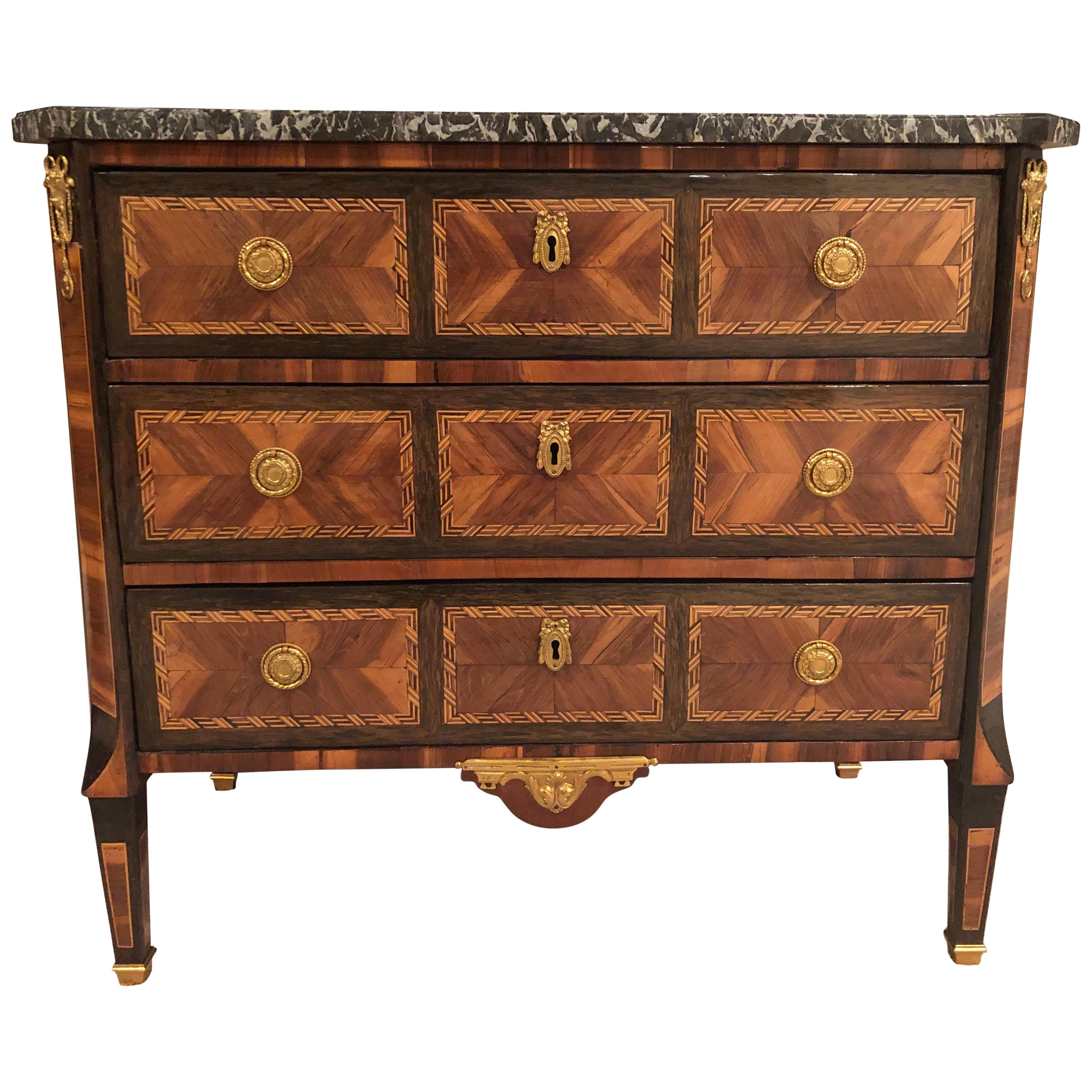 Transition Chest of Drawers, France, 1780